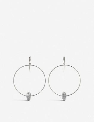 Kendra Scott Elora 14ct white-gold and white diamond hoop earrings