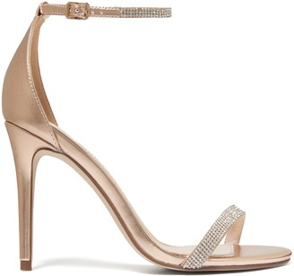 Forever New Antonia Diamante Strap Stilettos - Rose Gold - 41