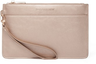 Forever New Melanie Zip Top Pouch - Rose Gold - 00