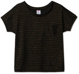 Little Karl Marc John Sale - Trendy Lurex Striped T-Shirt