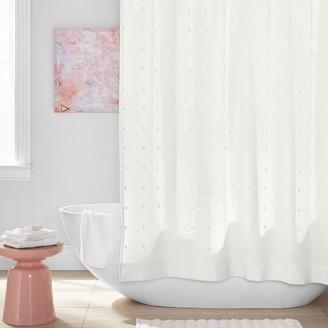 Pottery Barn Teen Tufted Pom Shower Curtain
