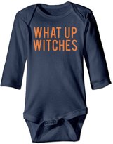 CoolCC Unisex What Up Witches HALLOWEEN Long-sleeve Bodysuit Onesies Clothes