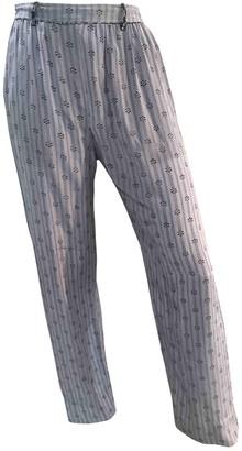 Isabel Marant Blue Silk Trousers