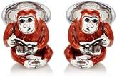 Jan Leslie Men's Monkey-With-Glasses Cufflinks