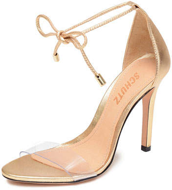 Schutz Josseana Metallic Ankle Pumps