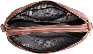 Mali & Lili Ava Woven Vegan Leather Crossbody Bag