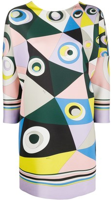 Emilio Pucci Occhi print mini dress