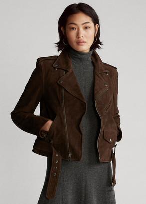 Ralph Lauren Suede Moto Jacket