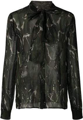 Saint Laurent camouflage print blouse