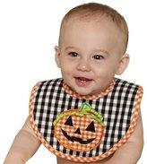 Mud Pie Unisex-baby Newborn Pumpkin Gingham Bib