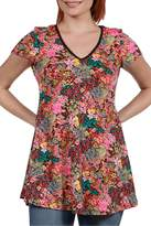 24/7 Comfort Apparel Pink Floral Top