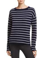 Aqua Cashmere Stripe High/Low Sweater - 100% Exclusive