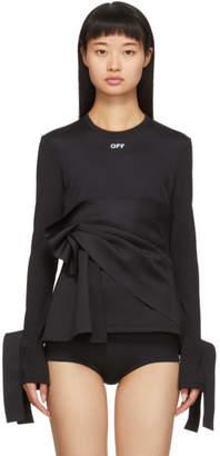 Off-White Off White Black Wrap Long Sleeve T-Shirt