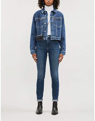 Calvin Klein Omega faded stretch-denim jacket