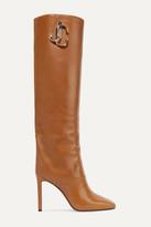 Jimmy Choo Mahesa 100 Embellished Leather Knee Boots - Tan