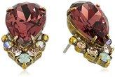 Sorrelli Sangria Crystal Teardrop and Cluster Earrings