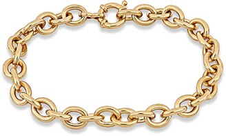 Delmar Yellow Gold Plated Sterling Silver Link Bracelet