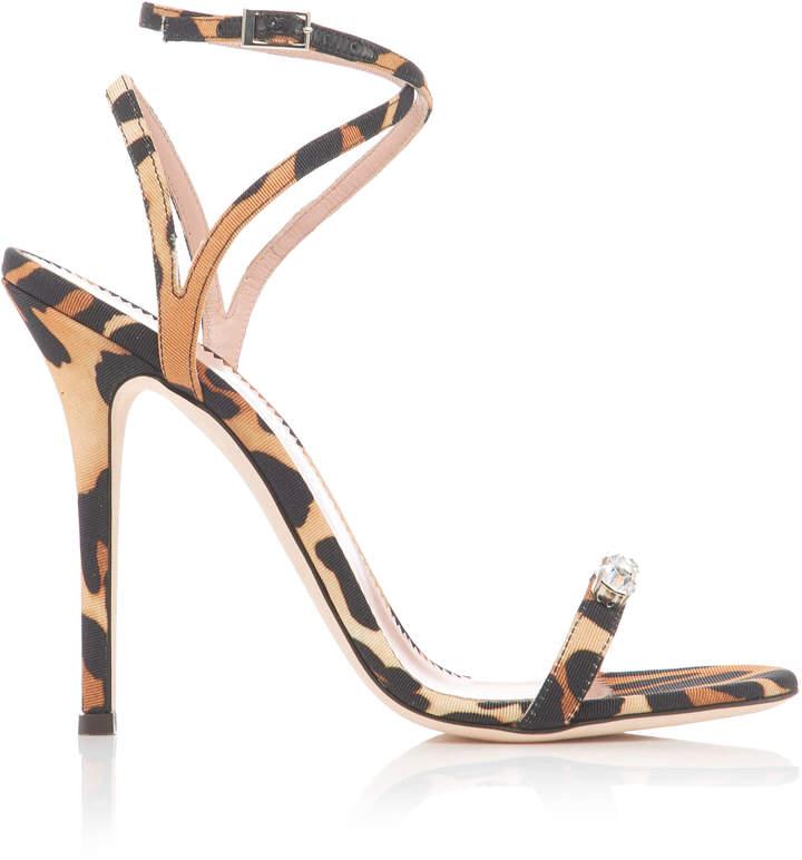Giuseppe Zanotti Silk Jaguar Alien Stiletto Sandals