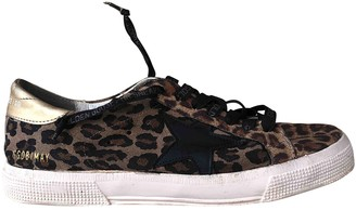 Golden Goose May Gold Glitter Trainers