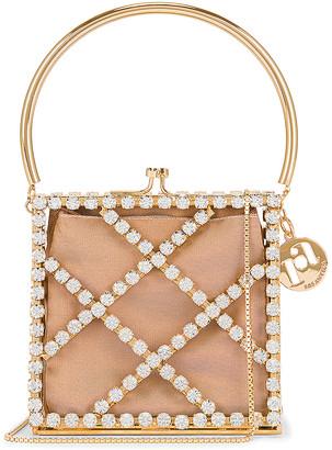 Rosantica Garofano Bag in Gold & Crystals | FWRD