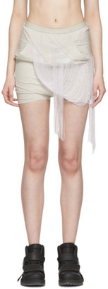 Rick Owens Grey Easy Fringed Buds Shorts