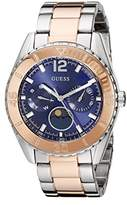 GUESS Women's U0565L3 Two-Tone Stainless Steel Blue Dial Watch