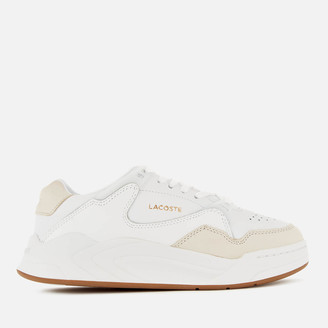 Lacoste Women's Court Slam 319 Leather Trainers - White/Gum