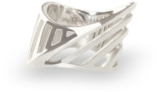 Cristina Cipolli Jewellery Sharch Ring Cut Out Sterling Silver