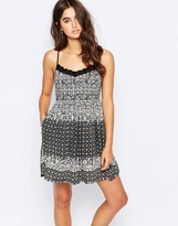 Band of Gypsies Cami Dress In Mono Print