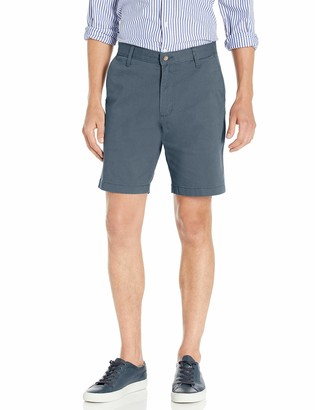 Nautica Men's Tall Classic Fit Flat Front Stretch Solid Chino Deck Short