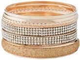Charlotte Russe Textured & Embellished Bangle Bracelets - 7 Pack