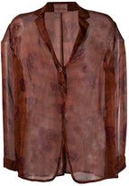 Romeo Gigli Pre Owned 1990s single-breasted sheer jacket
