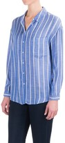 Philosophy by Republic Philosophy Textured Stripe Shirt - Long Sleeve (For Women)