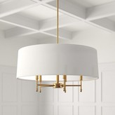 Madison Home USA Presidio 5-Light Unique / Statement Drum Chandelier Signature Finish: Plated Brass