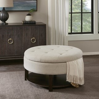 Madison Home USA Javier Round Storage Ottoman