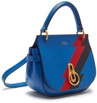 Mulberry Small Amberley Satchel Porcelain Blue Multi-Colour Flash