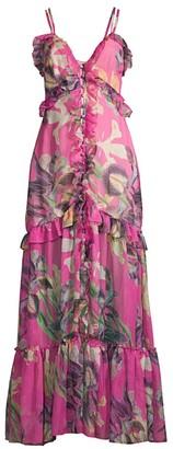 PatBO Grace Printed Convertible Cover-Up Dress