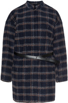Junarose Plus Size Plaid belted jacket