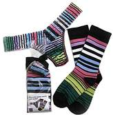 Hanky Panky Womens Striped Low Rise Thong & Organic Cotton Socks Set in