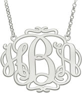 FINE JEWELRY Personalized 31x39mm Scroll Monogram Necklace