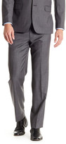 Tommy Hilfiger Gray Sharkskin Wool Flat Front Pant