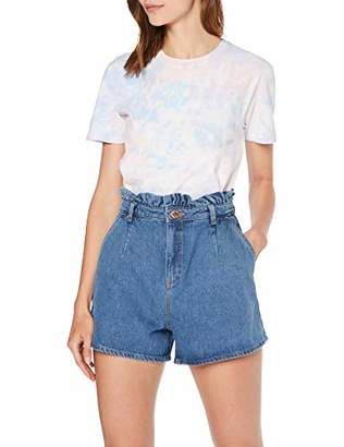 Miss Selfridge Women's MOM Blue Frill Top Shorts 110, 8 (Size:8)