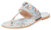 Joie Nice Embossed Leather Thong Sandal