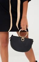 PrettyLittleThing Black Hoop Handle Bag