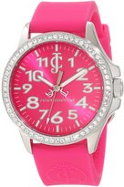 Juicy Couture 1900965 38mm Stainless Steel Case Pink Rubber Mineral Women's Watch