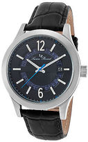 Lucien Piccard 40020-01 Men's Oxford Black Genuine Leather and Dial
