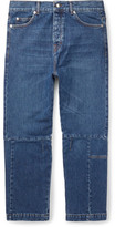 McQ Cropped Recycled Denim Jeans - Blue