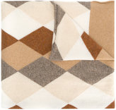 Pringle argyle intarsia scarf