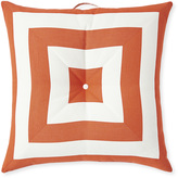 Serena & Lily Harbour Island Floor Pillow - Coral Stripe