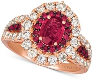 LeVian Le Vian Certified Ruby (1-1/5 ct. t.w.) & Diamond (1-1/4 ct. t.w.) Ring in 14k Rose Gold